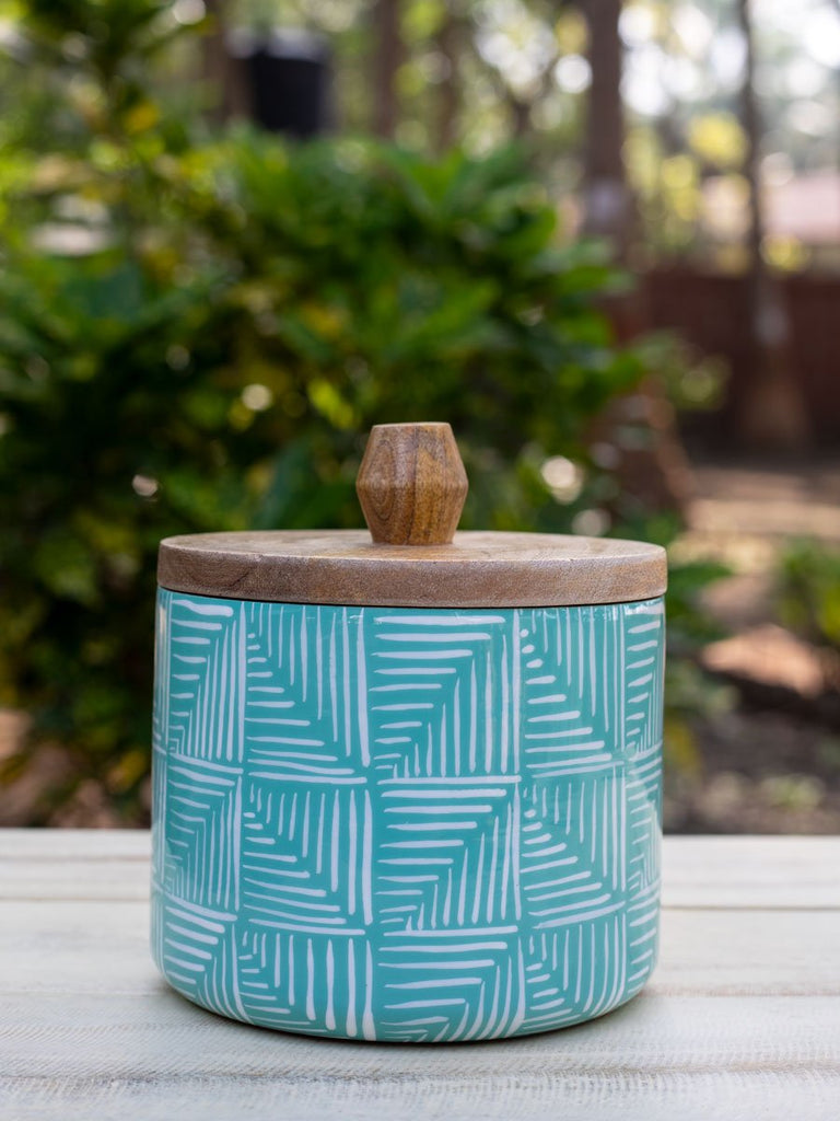 Aqua Magic Wooden Jar - Set of 2 - Pinklay