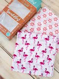 Flamingo Dance Organic Cotton Muslin Swaddles - Pinklay