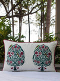 Kalpavriksha Hand Block Print Cotton Cushion Cover - 12 X 20 Inch Cushions