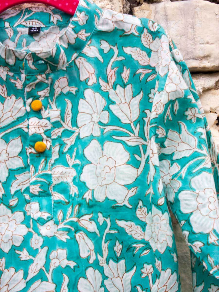 Floral Organic Cotton Long Kurta
