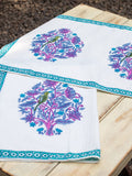 Jaipur Hand Block Print Cotton Hand Towels - Set of 2