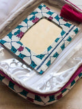 Mahtab Hand Block Print Cotton Travel Vanity Case Travel Cases