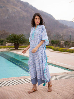 Pearl Modal Silk Kaftan Dress - Pinklay