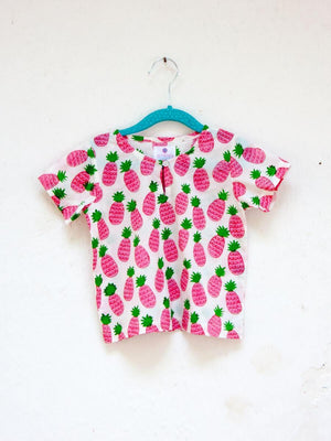 Pineapple Crush Organic Cotton Top & Shorts Set Kids Clothing