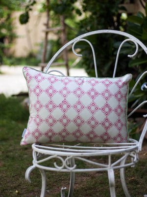 Aangan Hand Block Print Cotton Cushion Cover - 14 X 20 Inch Cushions