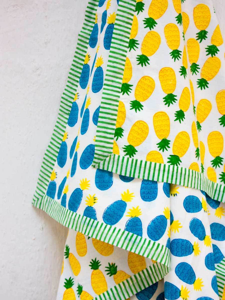 Ananas GOTS Certified Organic Cotton Reversible Dohar Blanket - Teen/Adult New Kids Collection