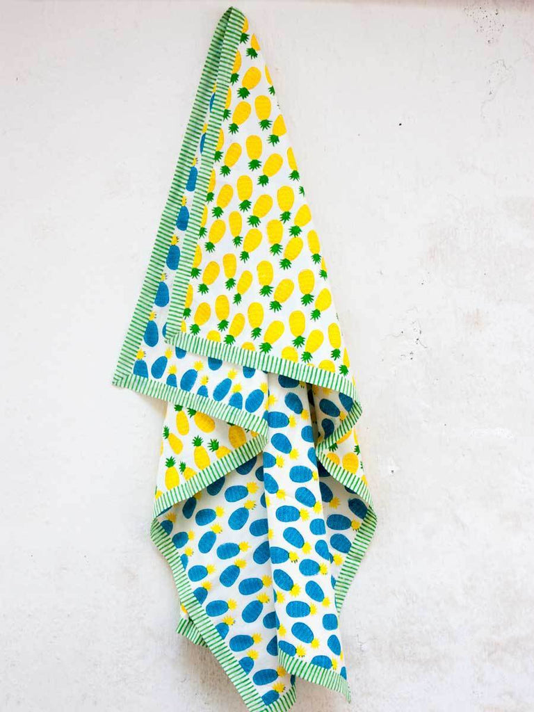 Ananas GOTS Certified Organic Cotton Reversible Dohar Blanket - 0-2 Yrs New Kids Collection