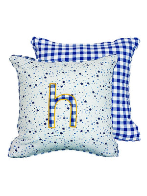 Letter H Cotton Alphabet Cushion Cover - 12 Inch Kids Alphabets Cushions