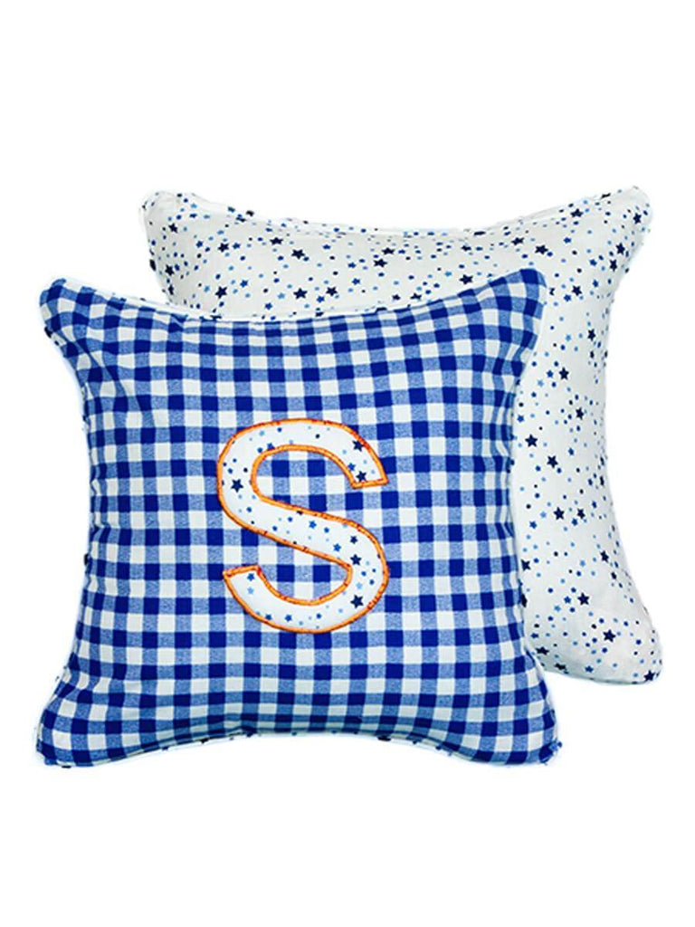 Letter S Cotton Alphabet Cushion Cover - 12 Inch Kids Alphabets Cushions