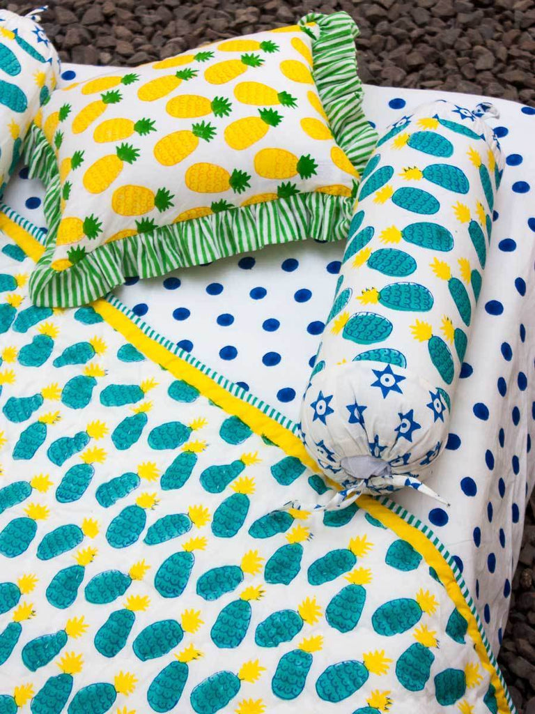 Firozi Ananas Organic Cotton Infant Bolster - Set of 2 New Kids Collection