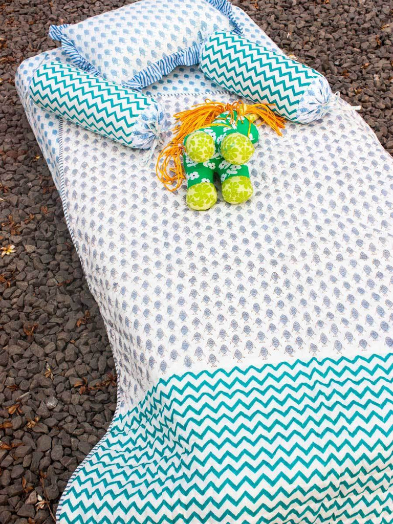 Jal Ki Rani GOTS Certified Organic Cotton Reversible Quilt for Infants New Kids Collection