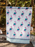 Flamingo Hand Block Cotton Curtain with Border & Concealed Loops Curtains