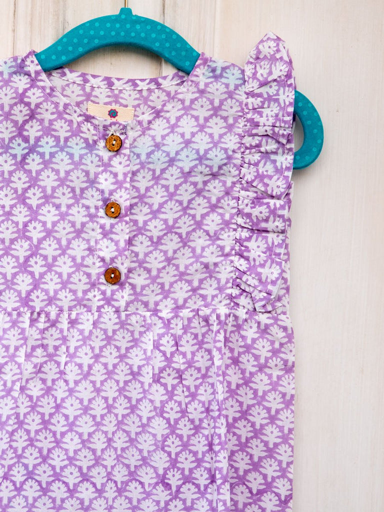 Purple Haze Organic Cotton Romper - Pinklay