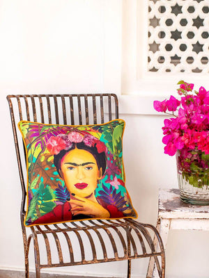 Freedom of Frida Cotton Cushion Cover - Pinklay