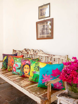 Garden of Eden Cotton Cushion Covers - Pinklay