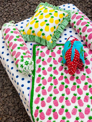 Gulaabi Ananas Organic Cotton Infant Bolster - Set of 2 New Kids Collection