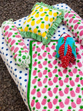 Polka Cotton Cot/Crib Fitted Sheet New Kids Collection
