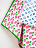 Gulaabi Ananas GOTS Certified Organic Cotton Reversible Quilt for Infants New Kids Collection