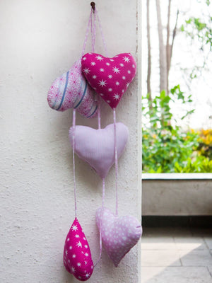 Five Heart Hanging Kids Room Decor Kids Gifts & Decor