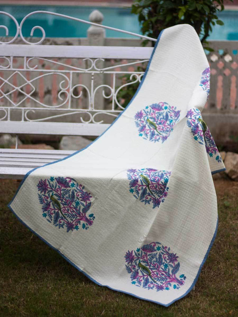 Jaipur Hand Block Print Cotton Bath Towel