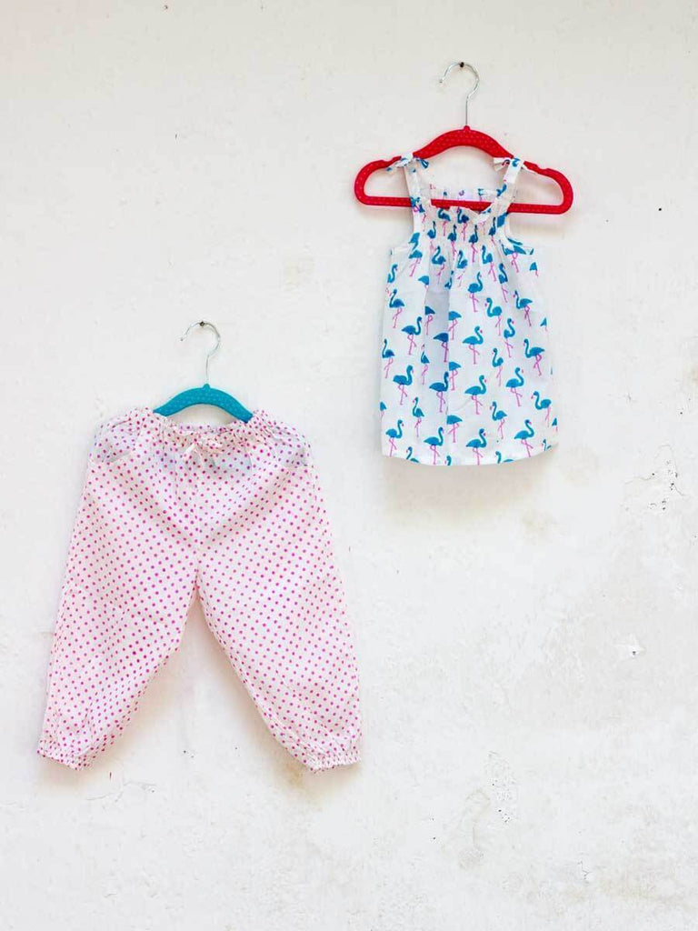 Pink Polka Organic Cotton Comfort Pants Kids Clothing