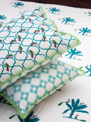 Madhuban Hand Block Print Cotton Pillow Cover - Set of 2 Pillow Covers