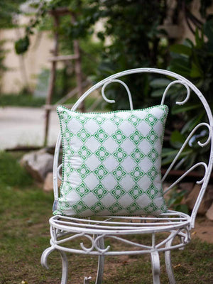 Mahotsav Hand Block Print Cotton Cushion Cover - 16 Inch Cushions