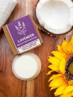 Lavender - Natural Handmade Bath Muffin Soaps