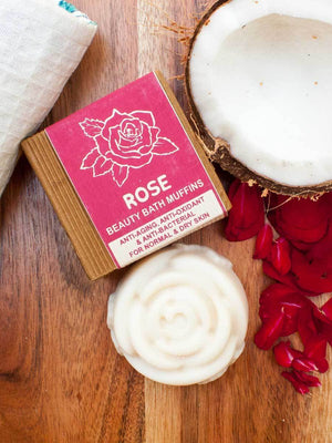 Rose - Natural Handmade Bath Muffin Soaps
