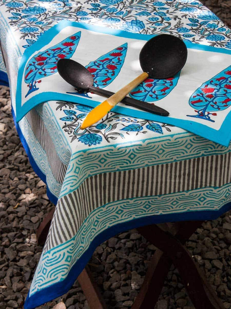 Nayaab Hand Block Print Cotton Table Cover Table Cloths