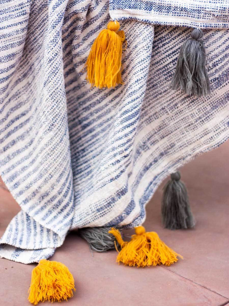 Nightfall Handwoven Throw With Tassels Throws