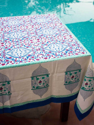 Noor Hand Block Print Cotton Table Cover