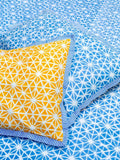 North Star Hand Block Print Cotton Pillow Cover - Set of 2