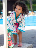 Flamingo Dance Premium Waffle Cotton Bath Robe Kids Clothing