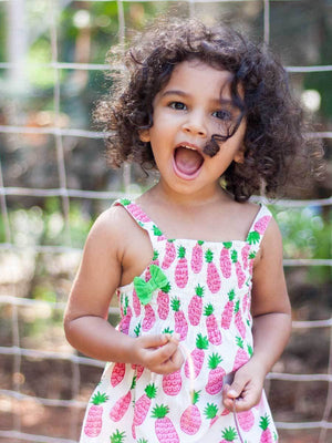 Pineapple Crush Organic Cotton Romper Kids Clothing
