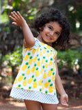 Ananaas Pin-Tuck Layered Frock with a Bow Kids Clothing