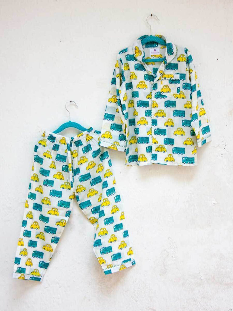 Power Wheels Organic Cotton Top & Pyjama Set Kids Clothing