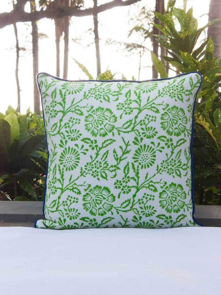 Seher Hand Block Print Double Side Printed Cotton Cushion Cover - 16 Inch Cushions