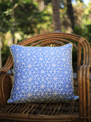 Forever Sitara Hand Block Print Cotton Cushion Cover (20 Inch) - Pinklay
