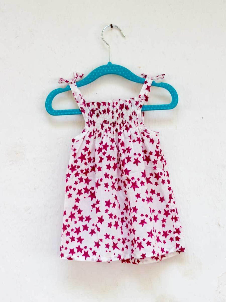 Deep Pink Star Organic Cotton Top Kids Clothing