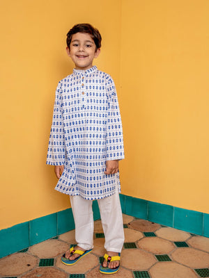 Indigo Love Organic Cotton Long Kurta - Pinklay