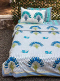 Tropical Cotton King Size Duvet, Quilt Cover With Zip Enclosure Duvet Covers