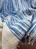 Twilight Handwoven Cotton Throw With Tassels Throws