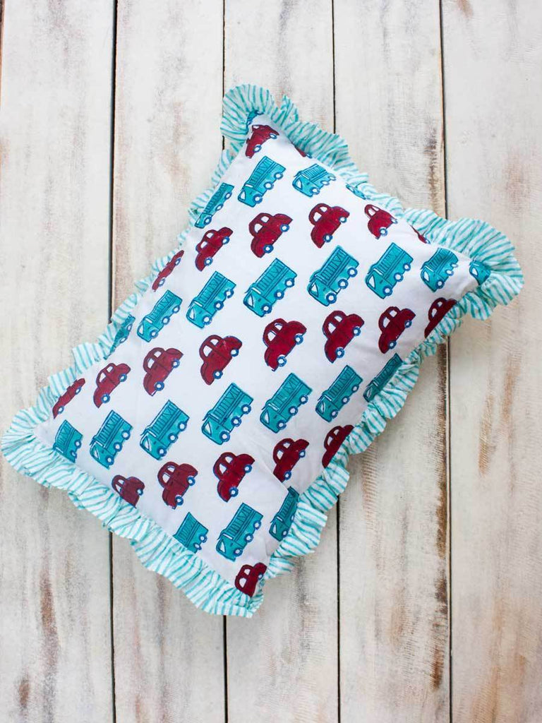 Vroom Vroom Organic Cotton Infant Pillow New Kids Collection