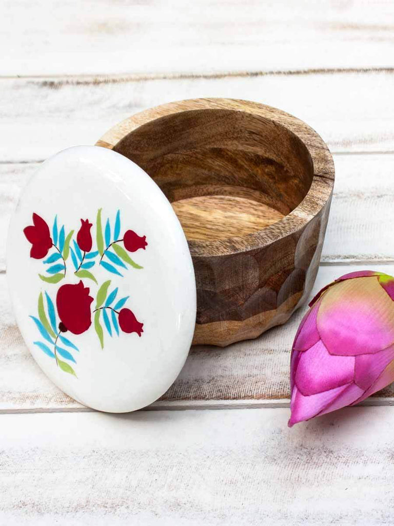 Handcarved Floral Wooden Jar Dining , Wooden Tablewarewooden tableware, wooden crockery, wooden serveware, handmade wooden tableware, jar, wooden jar, wooden storage jar, wooden kitchen jar, decorative jar, wooden bowls