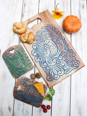 Peacock Handcarved Wooden Platter / Chopping Board Wooden Tableware