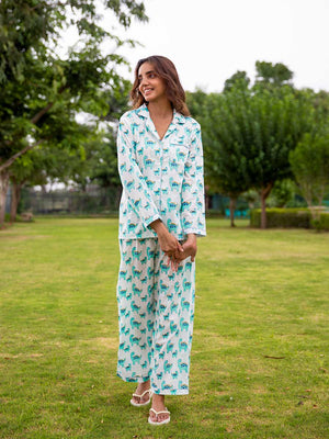 Dino Soft Cotton Pajama Set - Pinklay