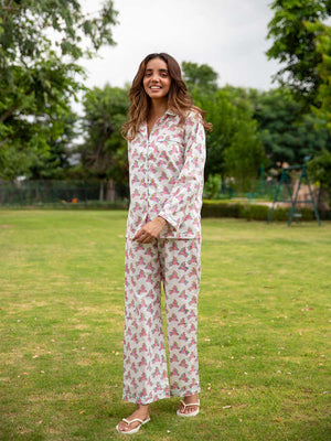 Unicorn Soft Cotton Pajama Set - Pinklay