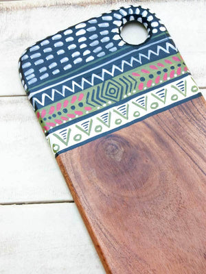 Manyara Hand Painted Solid Wood Platter