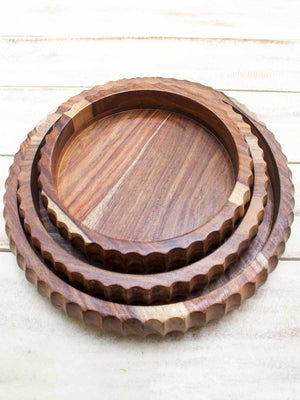 Nakuru Handcarved Solid Wood Bowl (Set of 3)